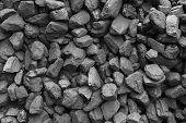 Closeup Of Black Coal