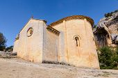 stock photo of templar  - San Bartolome romanesque and templar hermitage - JPG