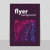 Flyer or Cover Design with Colorful Dotted Abstract Pattern