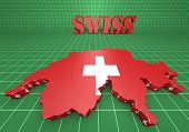 Map Illustration Of Swiss