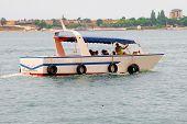 motor boat under sea