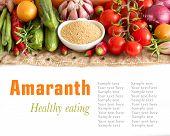 Raw Organic Amaranth And Vegetables