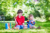 Two Kids In A School Yard