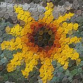 Flower Sewing Buttons Image Generated Background