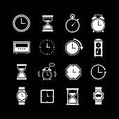 Set Icons Of Clock