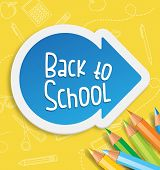Back to School Word with Arrow