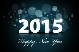 stock photo of countdown  - Sparkle background of happy new year 2015 - JPG