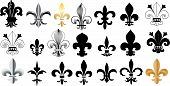 stock photo of fleur de lis  - this is the set of Fleur De Lis - JPG