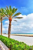 Seafront beachcoast in Spain.