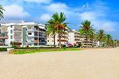 Seafront beach coast