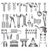 Working Tools Meatl Icon