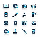 Los medios de comunicación & Entretenimiento / / azul serie