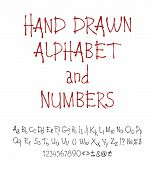 Vector Set Of Calligraphic Acrylic Or Ink Alphabet.