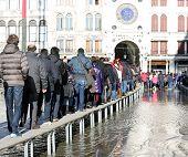 People Walkingonthe elevated walkway