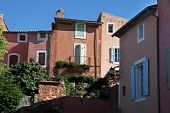 Colorful Houses In Roussillon