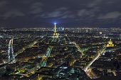 Paris - December 29: Paris At Night View From Montparnasse Tower On December 29, 2013 In Paris.  Is