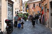 Narrow Street In The Old City On May 31, 2014, Rome