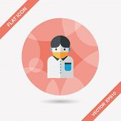 Patient Flat Icon With Long Shadow,eps10
