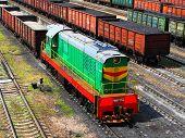 KHARKOV, UKRAINE - 13.06.2011,Railway Station, Freight Cars, Transportation Cargo Of Coal in KHARKIV