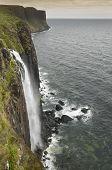 Coastline Landscape In Skye Isle. Kilt Rock. Scotland. Uk