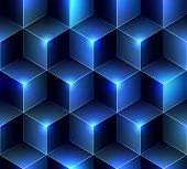 Navy blue cubes background.