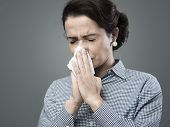 Woman With Allergy