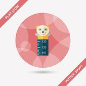 Height Scale Flat Icon With Long Shadow,eps10