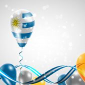 Flag of Uruguay on balloon