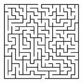 foto of maze  - Abstract Maze Labyrinth pattern on White Background - JPG