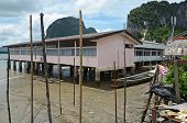 School on stilts in Koh Panyee Floating Village in the Andaman Sea, Thailand