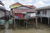 Housing on piles. Sea Gypsy Village Koh Panyee in the Andaman Sea, Thailand