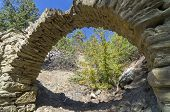 image of aqueduct  - Small aqueduct in the Crimean mountains - JPG