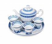 Blue China Tea Set
