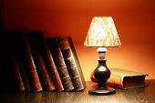 Lamp And Book