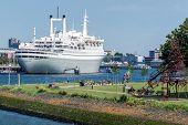 The SS Rotterdam V In Rotterdam Harbor