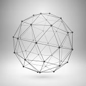 foto of polygon  - Wireframe mesh polygonal element - JPG