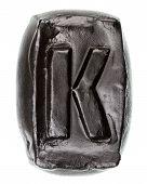 Handmade Ceramic Letter K