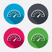 Tachometer sign icon. Revolution-counter symbol.