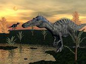 Suchomimus dinosaurs - 3D render