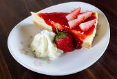 strawberry cheesecake with whipped cream