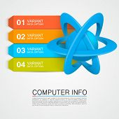 Illustration of an atom info