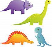 Cute baby dinosaurs