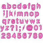 Pink Glossy Punk Techno Eighties Font