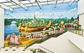 Painted Mural At Yangon Airport
