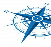 blue compass background