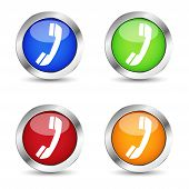 Phone Web Contact Button Set