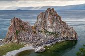 Shaman Rock at Lake Baikal Russia