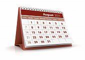 Calendário 2011, agosto
