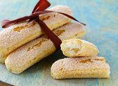 stock photo of biscuits  - traditional Italian biscuit cookies savoryadi  - JPG