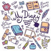 Diary Writing Instrument Set